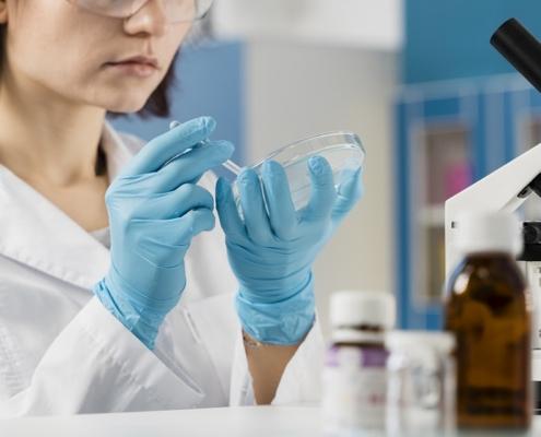 Científico ciencia laboratorio investigación analítica cromtek shimadzu