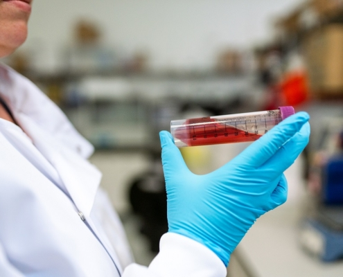 Científico laboratorio sangre centrífuga cromtek