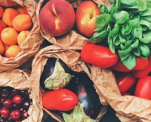 Frutas verduras calidad colorímetro color medición cromtek