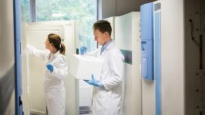 Freezer de laboratorio equipamiento de refrigeración mantenedor congelador