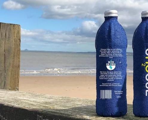 Botellas de papel tendencia en sustentabilidad para empaques reciclable reciclado