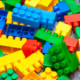 Polímero bloques de colores lego juguetes plástico