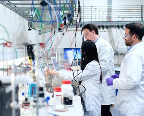 Balanza de densidad analítica de laboratorio