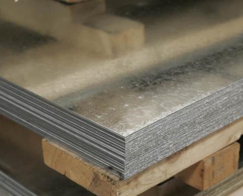 Láminas de acero galvanizado recubiertas de zinc