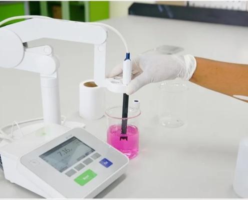 Medidor de PH como calibrarlo en el laboratorio